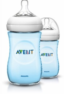 Avent - Bottle Natural  260ml / 9oz Twin Pack ( Blue )