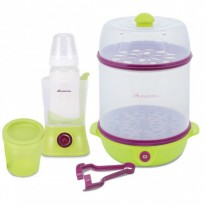 Autumnz - Electric Steam Steriliser + Home Bottle Warmer Combo (Green)