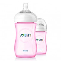 Avent - Bottle Natural 260ml / 9oz Twin Pack ( Pink )