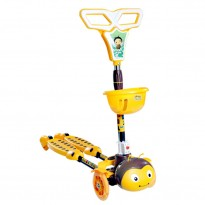 Frog Motion Scissor Kick Scooter with 4-Wheel Flash Light, Yellow