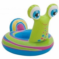 Intex See-Me-Sit Rider Float Snail Inflatable Pool Float For Kids 3+