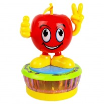 Baby Toy Apple Funny Bump N Go With Light & Music, Red