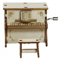 DIY Hand-cranked Wooden Music Box, Piano