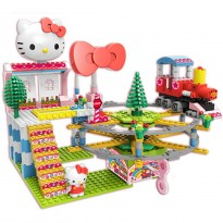 OEM Hello Kitty Kitty Express Musical Building Blocks Toy