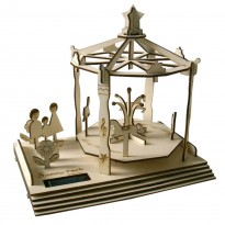 DIY Solar Power Playwood Windmill Carousel Sunny Park Building Kit