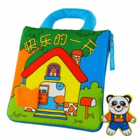Cloth Book - Happy day (Panda) -BT08