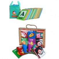 Cloth Alphabet Learning Card 0-3 years old Cum 6 Mini Cloth Books -BKM01+BKM02