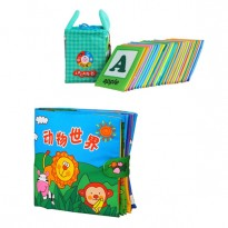 Cloth Alphabet Learning Card 0-3 years old Cum Cloth Book - Animals World 0-3 years old -BKM01+BKM03