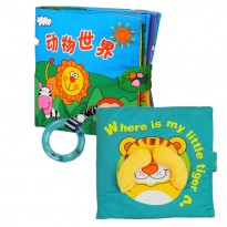 Cloth Book - Where Is My Little Tiger Cum Cloth Book - Animals World 0-3 years old -BT02+BKM03