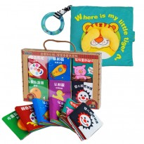 Cloth Book - Where Is My Little Tiger Cum 6 Mini Cloth Books  -BT02+BKM02
