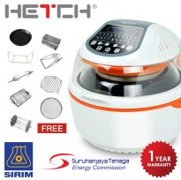 HETCH Digital Turbo Air Fryer - 20 Functions + 9 Accessories