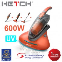 HETCH UV Vacuum Cleaner Dust Mite Killer - 4 in 1 Multi-function (FREE Crevice Nozzle + Round Brush)