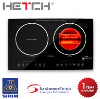 HETCH 2 in 1 Induction + Halogen Cooker