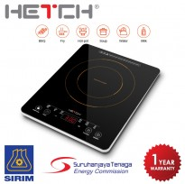 HETCH Induction Cooker (Ultra Slim) IDC-1705-HC 2000W Soft Touch Control Panel