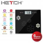 HETCH 1.7cm Ultra Slim Body Fat/Hydration Monitor Scale
