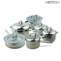HETCH 12 pcs S/S Practical System Cookware Set