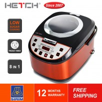 HETCH 8 in 1 Low Sugar Multifunction Rice Cooker MTC-1723-HC